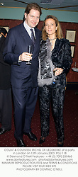 COUNT & COUNTESS MICHEL DE LIEDEKERKE at a party in London on 13th January 2003.<br />PGJ 118