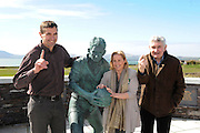 Fianna Fail candidate for the local elections in South Kerry Norma Moriarty from Waterville pictured with  Former Kerry manager Mick O'Dwyer and former Kerry footballer Maurice Fitzgerald and Senator Mark Daly campaigning in Waterville and Cahersiveen at the weekend.<br /> Picture by Don MacMonagle<br /> <br /> REPRO FREE PHOTO