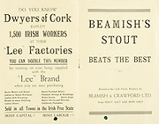 Munster Senior and MInor Hurling Championship Final,.22071934MSMHCF,..22.07.1934, 07.22.1934, 22nd July 1934,.Senior Limerick v Waterford,.Minor Tipperary v Waterford,..Dwyers of Cork, Lee Factories, Irish Capital! Irish Labour,..Beamish's Stout Beats the Best,
