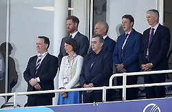 The Duke of Sussex in the stands before the ICC Cricket World Cup group stage match at The Oval, London.