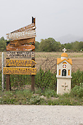 Greece, Macedonia, Prespa lakes Greek Road signs