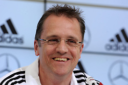 29.05.2014, Teamcamp, St. Martin Passeiertal, ITA, FIFA WM, Vorbereitung Deutschland, Presseconferenz, im Bild Ein gutgelaunter Teamarzt Prof.Dr.Tim Meyer // during a press conference the Trainingscamp of Team Germany for Preparation of the FIFA Worldcup Brasil 2014 at the Teamcamp in St. Martin Passeiertal, Italy on 2014/05/29. EXPA Pictures © 2014, PhotoCredit: EXPA/ Eibner-Pressefoto/ Stuetzle<br /> <br /> *****ATTENTION - OUT of GER*****
