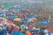 Thousands of people Cool Off At Fujiazhuang Beach