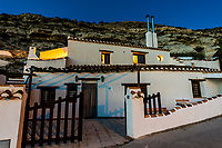Cave house (accomodations for tourists), Galera, Granada Province, Andalusia, Spain.