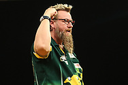 Simon Whitlock during the 2018 Grand Slam of Darts at Aldersley Leisure Village, Wolverhampton, United Kingdom on 16 November 2018. Picture by Shane Healey.