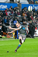 Rugby Union - 2019 / 2020 European Rugby Heineken Champions Cup - Pool Four: Ospreys vs. Saracens<br /> <br />  Luke Price of Ospreys kicks a conversion, at the Liberty Stadium.<br /> <br /> COLORSPORT/WINSTON BYNORTH