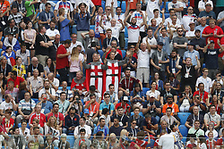 fans, supporters of england during the 2018 FIFA World Cup Play-off for third place match between Belgium and England at the Saint Petersburg Stadium on June 26, 2018 in Saint Petersburg, Russia