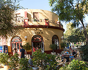 Citroen Bar cafe city centre,  Parque de Maria Luisa, Seville, Spain
