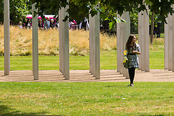 Hyde Park, London, July 7th 2015. Families of the victims and survivors of the 7/7 bombings in London gather at Hyde Park and are joined by the Duke of Cambridge Prince William at an emotional service commemorqating the Islamist terrorist bombing outrage that happened on London's transport network, claiming 57 lives and left scores of people injured.