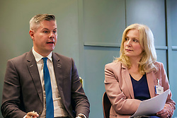 Finance and Economy Secretary Derek Mackay and Tracy Black, director of the CBI Scotland, at today's launch of a new productivity index. Pic: Terry Murden @edinburghelitemedia