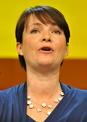 © Licensed to London News Pictures. 21/09/2011. BIRMINGHAM, UK.    Kirsty Williams AM Leader of the Welsh Liberal Democrats delivers a speech at the Liberal Democrat Conference at the Birmingham ICC today (21 Sept 2011): Stephen Simpson/LNP