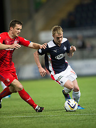 Rangers Daly with Falkirk's Craig Sibbald. Falkirk 1 v 3 Rangers, Scottish League Cup game played 23/9/2014 at The Falkirk Stadium.