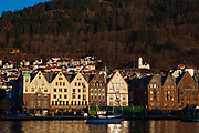 The old Hanseatic waterfront in Bergen, Norway