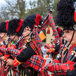 York, PA / USA - March 12, 2016:  Bagpipers with The Kiltie Band of York play and march in the annual Saint Patrick's Day Parade.