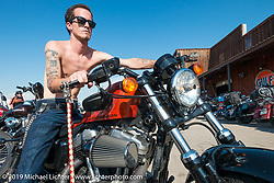 Veteran Brandon Toelle of Denver, CO at the the Full Throttle Saloon during the annual Sturgis Black Hills Motorcycle Rally. SD, USA. August 7, 2014.  Photography ©2014 Michael Lichter.