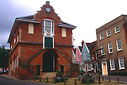 Tudor architecture of The Shire Hall building on Market Hill, built by Thomas Seckford in 1775  Woodbridge town hall,  Suffolk, England, UK