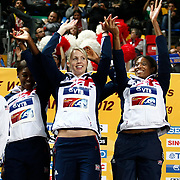 Silver medalist Great Britain team during the IAAF World Indoor Championships at the Atakoy Athletics Arena, Istanbul, Turkey. Photo by TURKPIX
