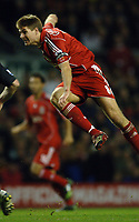 Photo: Paul Greenwood.<br />Liverpool v Manchester City. The Barclays Premiership. 25/11/2006. Liverpool's Steven Gerrad shoots and scores.