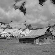 Mormon Row Barn - Grand Tetons, WY - Infrared Black & White