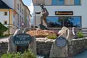 Mountaineering statue in Neustift im Stubaital, Tyrol, Austria
