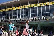 Royal Festival Hall. Festival of Neighbourhood at The Southbank, London, UK. Annual springtime community activities.