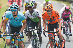 March 24, 2018 - Polish cyclist Lukasz Owsian (Right) from CCC Sprandi Polkowice Team in action during the seventh stage, the 222.4 km from Nilai to Muar, of the 2018 Le Tour de Langkawi. .On Saturday, March 24, 2018, in Muar, Malaysia. (Credit Image: © Artur Widak/NurPhoto via ZUMA Press)