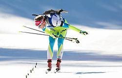 Klemen Bauer (SLO) at finish line  during Men 15 km Mass Start at day 4 of IBU Biathlon World Cup 2015/16 Pokljuka, on December 20, 2015 in Rudno polje, Pokljuka, Slovenia. Photo by Vid Ponikvar / Sportida