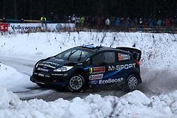 07.02.2014, Hagfors, Karlstad, SWE, FIA, WRC, Schweden Rallye, Tag 3, im Bild Mikko Hirvonen/Jarmo Lehtinen (M-Sport WRT/Ford Fiesta RS WRC), Action / Aktion // during Day 3 of the FIA WRC Sweden Rally at the Hagfors in Karlstad, Sweden on 2014/02/07. EXPA Pictures © 2014, PhotoCredit: EXPA/ Eibner-Pressefoto/ Bermel<br /> <br /> *****ATTENTION - OUT of GER*****