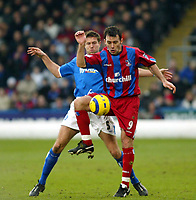 Photo. Chris Ratcliffe<br /> Crystal Palace v Birmingham City. Barclays Premiership. 26/02/2005<br /> Dougie Freedman of Palace and Matthew Upson of Birmingham tussle for this one