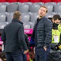 21.11.2020, Allianz Arena, Muenchen, GER,  FC Bayern Muenchen SV Werder Bremen <br /> <br /> <br />  im Bild Hansi Flick (Trainer FCB) mit Florian Kohfeldt (Cheftrainer SV Werder Bremen) <br /> <br /> <br /> <br /> Foto © nordphoto / Straubmeier / Pool/ <br /> <br /> DFL regulations prohibit any use of photographs as image sequences and / or quasi-video.