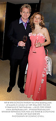 MR & MRS GORDON RAMSAY he is the leading chef, at a party in London on 14th May 2003.PJN 223