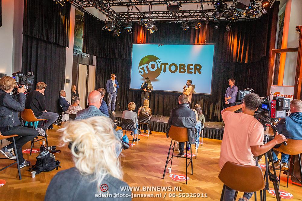 NLD/Amsterdam/20200903 - Kick off Stoptober 2020, Jorgen Raymann, Estelle Gullit