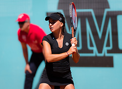 May 4, 2019 - Madrid, MADRID, SPAIN - Irina Bara of Romania in action during the second qualifications round of the 2019 Mutua Madrid Open WTA Premier Mandatory tennis tournament (Credit Image: © AFP7 via ZUMA Wire)