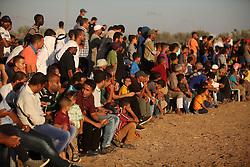 September 16, 2016 - Dair Al Balah, Gaza Strip, Palestinian Territory - Palestinians attend a Bedouin festival in Dair Al Balah in the central Gaza Strip September 16, 2016  (Credit Image: © Ashraf Amra/APA Images via ZUMA Wire)