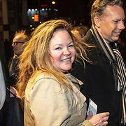 NLD/Amsterdam/20150306 - Boekenbal 2015, Sylvia Witteman en partner Philippe Remarque