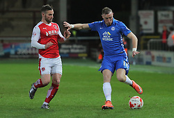 Marcus Maddison of Peterborough United is closed down by Jimmy Ryan of Fleetwood Town - Mandatory by-line: Joe Dent/JMP - Mobile: 07966 386802 - 05/04/2016 - FOOTBALL - Highbury Stadium - Fleetwood, England - Fleetwood Town v Peterborough United - Sky Bet League One