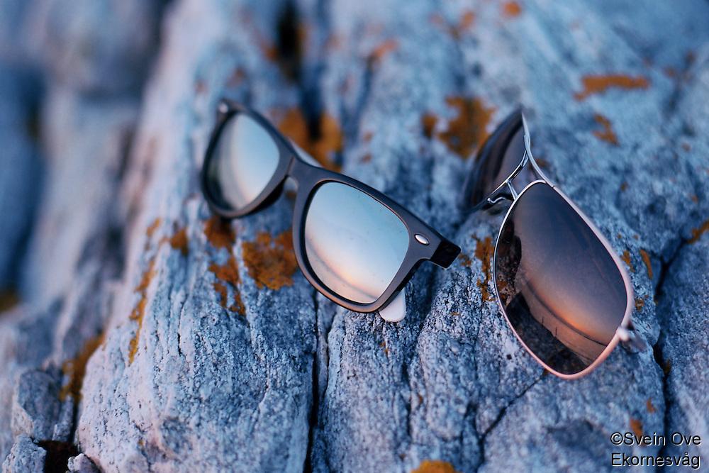 Solbriller i solnedgang.<br /> Foto: Svein Ove Ekornesvåg