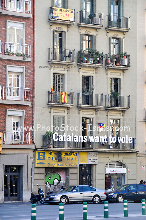 Barcelona, Catalans want to vote