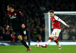 Aaron Ramsey of Arsenal - Mandatory by-line: Robbie Stephenson/JMP - 15/03/2018 - FOOTBALL - Emirates Stadium - London, England - Arsenal v AC Milan - UEFA Europa League Round of 16, Second leg