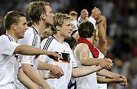 EURO 2008 Quarter Final  St Jakobs Park Basel M25  Germany v Portugal 19/06/2008<br /> Die Deutschen mit Marcell Jansen (GER) jubeln nach dem Sieg gegen Portugal.<br /> <br /> Tyskland - Portugal<br /> <br /> Norway only