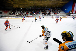 Patrick Harand of Graz during ice hockey match between HK Acroni Jesenice and  Moser Medical Graz 99ers in 24th Round of EBEL league, on December 3, 2010 in Arena Podmezakla, Jesenice, Slovenia. Graz defeated Jesenice 3-0.  (Photo By Vid Ponikvar / Sportida.com)