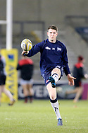 Sam James warms up during the Aviva Premiership match between Sale Sharks and Saracens at the AJ Bell Stadium, Eccles, United Kingdom on 16 February 2018. Picture by George Franks.