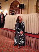 Mella Lee, Duff  Cooper prize, Crystal Room, Mayfair Hotel. London. <br />© Copyright Photograph by Dafydd Jones 66 Stockwell Park Rd. London SW9 0DA Tel 0171 733 0108 www.dafjones.com
