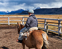 About to go horse ride in Patagonia from Estancia Christina. Image taken with a Fuji X-T1 camera and Zeiss 32 mm lens (ISO 200, 32 mm, f/11, 1/250 sec).