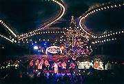 Spanje, Barcelona, 10-1-2004..Interieur van dans en muziek zaal La Paloma. Prachtige zaal uit 1902. Veelal ouderen dansen hier op Spaanse live muziek. Uitgaan ontspanning, traditie, cultuur...Foto: Flip Franssen
