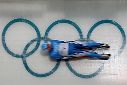 Olympic Winter Games Vancouver 2010 - Olympische Winter Spiele Vancouver 2010, Luge, Rodeln, Rennrodeln, Feature, symbolic shot, Bewegung, verwischt, olympic rings, Olympische Ringe *** Local Caption * Photo by Malte Christians / HOCH ZWEI / SPORTIDA.com.