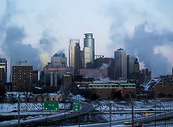With wind chills below minus 50 degrees the Minneapolis skyline is visible Wednesday, January 30, 2019, in Minneapolis, Minn. Photo by David Joles/Minneapolis Star Tribune/TNS/ABACAPRESS.COM