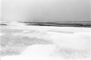 Beach covered with snow, The Hague beach