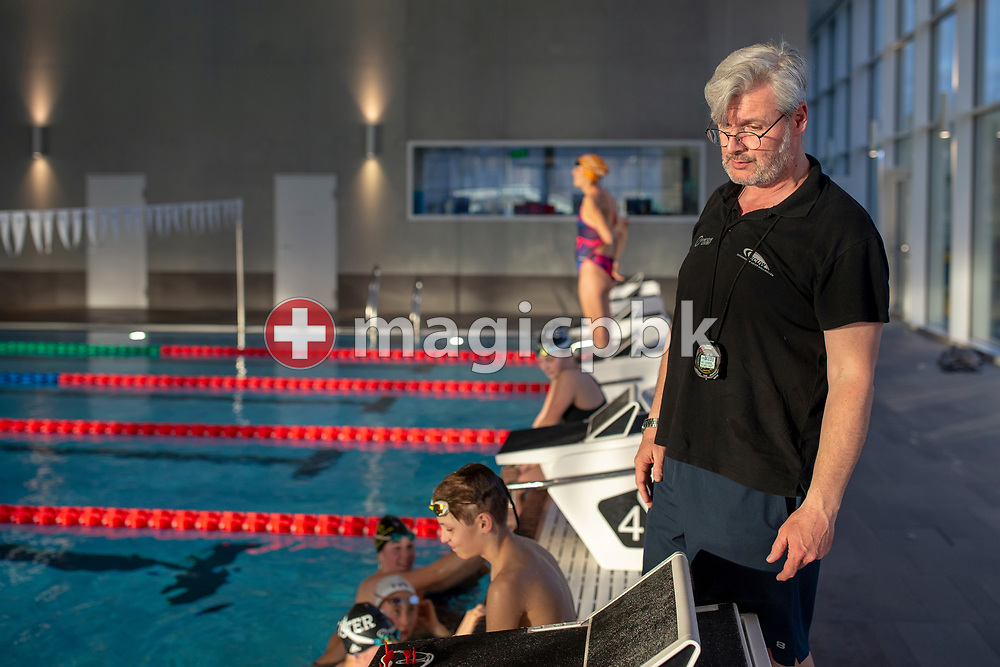 SCUW coach Andras GYENES of Hungary is pictured during a training session of SchwimmClub Uster Wallisellen in Uster, Switzerland, Tuesday, March 5, 2019. (Photo by Patrick B. Kraemer / MAGICPBK)