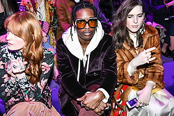 Florence Welch Asap Rocky and Hari Nef on the front row during the Gucci catwalk show during Milan Fashion Week 2017